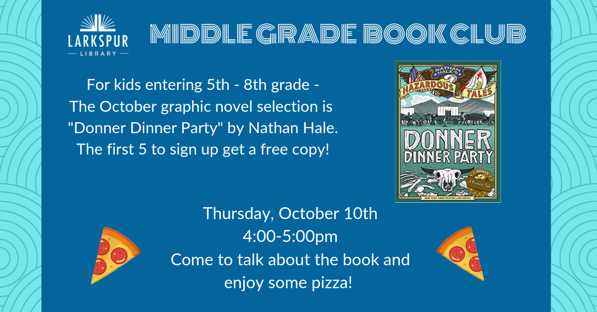 Middle Grade Book Club Oct Calendar