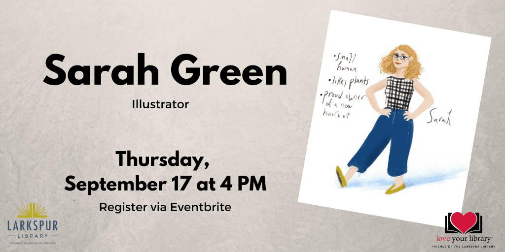 Sarah Green Illustrator, Thursday September 17 at 4 PM