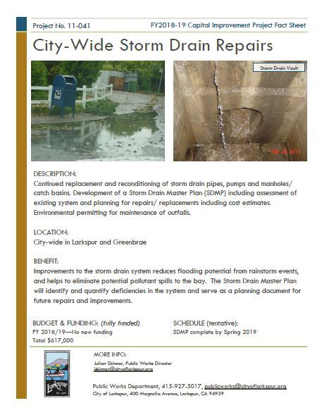 2011-041 City-Wide Storm Drain FACT SHEET
