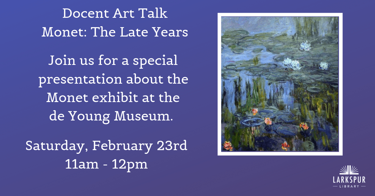 Monet Docent Art Talk Calendar